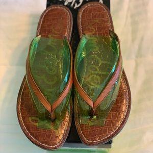 Sam Edelman-Gracie Flip Flop- Saddle Color- Size 9